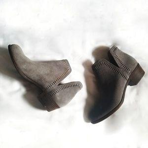 Lucky Brand Gray Bustina Booties